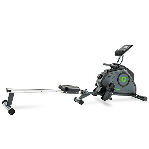 Marcy Tunturi Unisex Regatta Cardio Fit Folding Rowing Machine, Dark Grey/Green