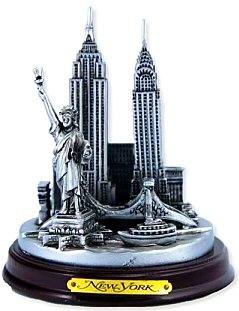 New York 3-D Round Pewter Model (New York Model compare prices)