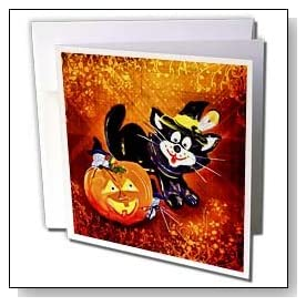 Funny Halloween Cat and Mouse Greeting Cards