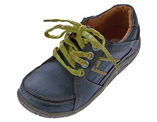 Leder Damen Halb Schuhe Comfort Sneakers Used Look Navi TMA Eyes Gr. 37