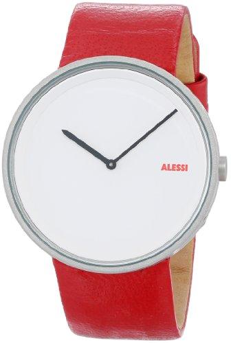 Alessi AL13002 - Reloj analógico automático para hombre con correa de piel, color rojo