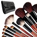 Fr�ulein 3�8 31 Pcs Make Up Brush Full Set makeup w/ Black Case