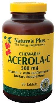 Nature's Plus - Acerola C Chewable, 500 mg, 90 chewable tablets