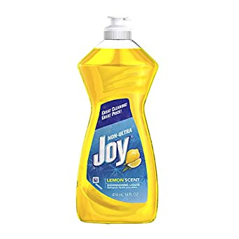 bottle of yellow Joy dish detergent