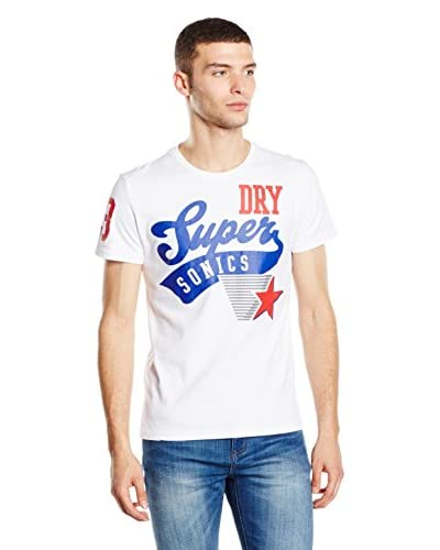 Superdry T-Shirt Manica Corta Sonics Athletic-Stars [Bianco Ottico]