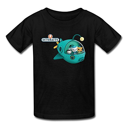 Flycro Kid's Geek The Octonauts T-shirts Size M Black (Pearls Before Swine Merchandise compare prices)