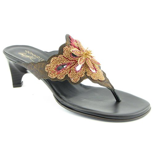 Donald J Pliner Viaa Womens SZ 7 Bronze Sandals Slides Slides Sandals Shoes