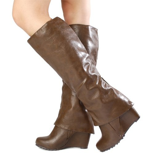 Breckelles Rexy-11 Brown Women Fashion Boots