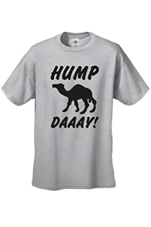 Men's/Unisex Funny What Day Is It? Hump Day! Camel GREY Short Sleeve T-shirt (Small)