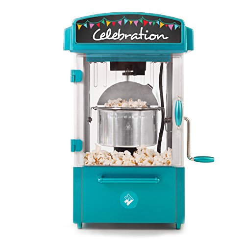Holstein Housewares HU-09010E-M Celebration Theater Style Popcorn Maker - Teal
