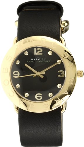 Marc by Marc Jacobs Women's MBM1154 Amy Black Dial Watch
