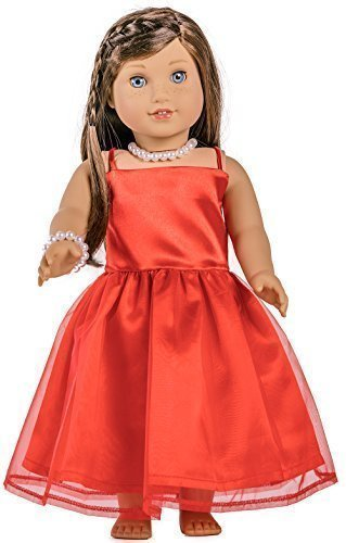 Doll Clothes For American Girl Doll, Madame Alexander, Target's and Other 18 Inches Girl Dolls, HBB AD005