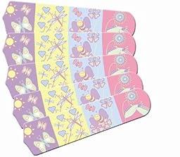 Ceiling Fan Designers 52SET-IMA-KHW Baby Nursery Happy Wings 52 In. Ceiling Fan Blades Only