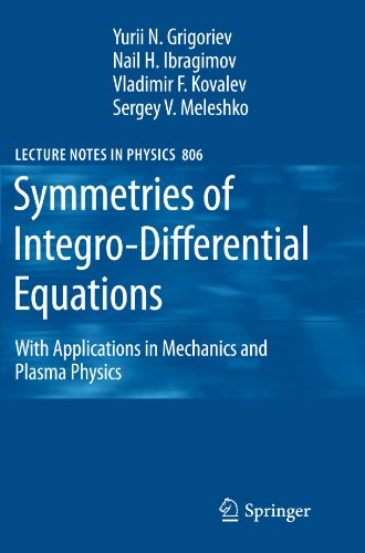 Symmetries of Integro-Differential Equations: With Applications in Mechanics and Plasma Physics (Lecture Notes in Physic