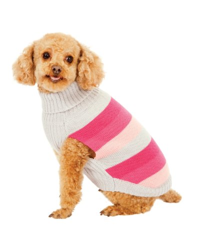 Best in Stripe Dog Sweater - Pink, Large