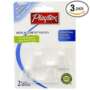 Playtex Spill-Proof Cup Replacement Valves - Three packs of two