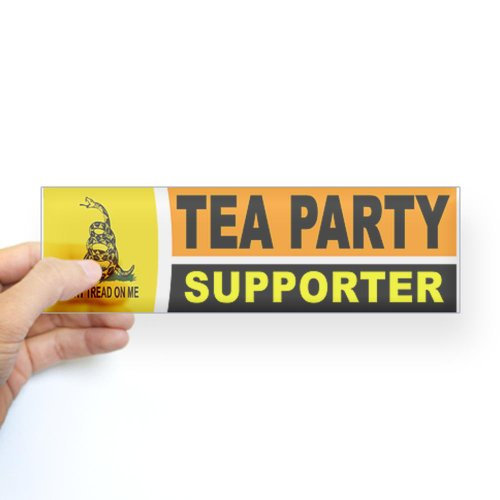 Cafepress Tea Party Sticker Bumper - Standard Clear