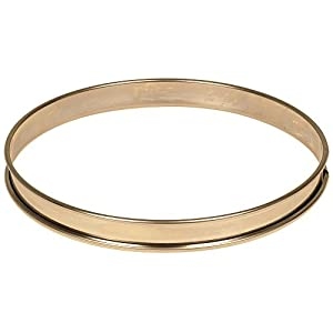 Matfer Bourgeat 371613 Plain Tart Ring, Silver from Matfer Bourgeat