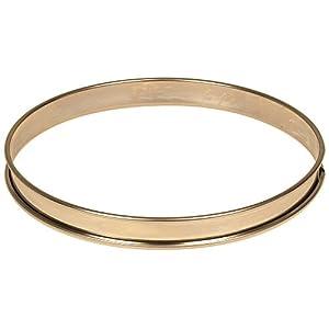 """Matfer Bourgeat 371615 Plain Stainless Steel Tart Ring, 9.5"""" Diameter by Matfer Bourgeat"""