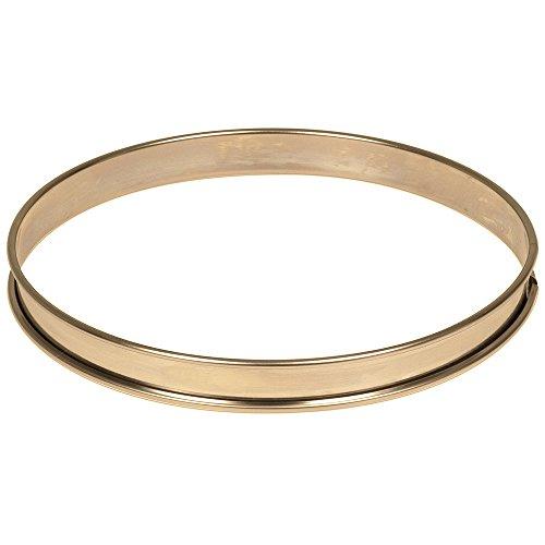 Matfer Bourgeat 371615 Plain Stainless Steel Tart Ring, 9.5