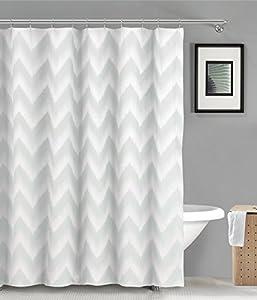 Duck River Textiles Maia Ikat Linen Poly Shower Curtain Seafoam Green Linen Home