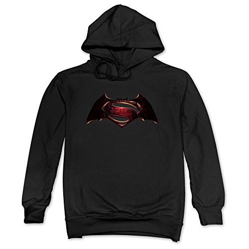 CRIS 2016 Batman Vs Superman Original Logo Bat S Hoodie Sweatshirt Black For Men (Original Batman Suit)