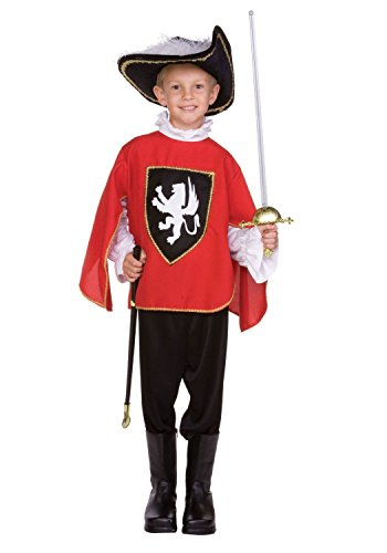 Child Child Red Muskateer Costume (hat/weapon not included)