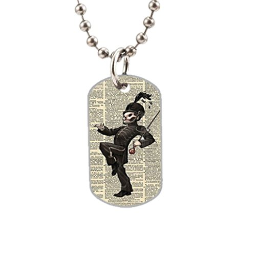 My Chemical Romance Skull Custom Dog Tag with one side photo and the other side is smoothly alumminum surface.