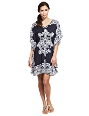 M&S Collection Bali Print Cover-Up Kaftan