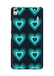 Amez designer printed 3d premium high quality back case cover for Lenovo A7000 (Heart glow surface texture)