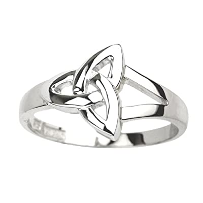 Trinity Knot Ring Sterling Silver Sz 4-9.5 Made in Ireland
