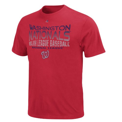 MLB Men&#039;s Washington Nationals Four Game Sweep Short Sleeve Crew Neck Tee (Independence Red, Large) at Amazon.com