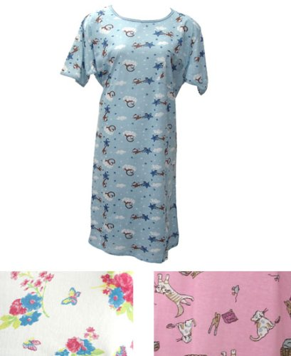 Cotton Flannel Nightgowns For Women | White Cotton Nighties For
