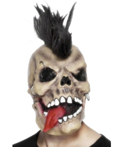 Smiffy'S Skull Rocker Punk Mask - 1