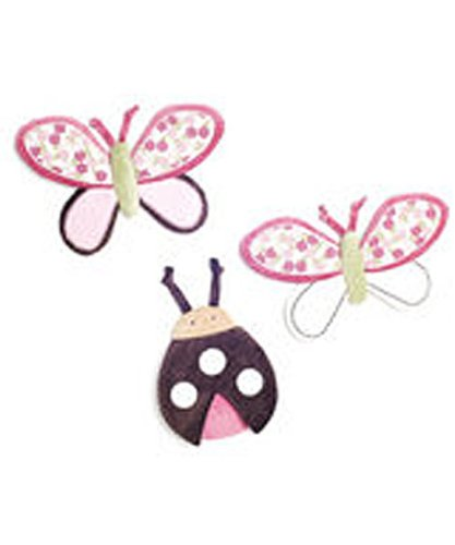 "Li'l Kids ""Butterfly Blossoms"" 3-Piece Wall Hanging Set - colors as shown, one size"