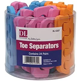DL Professional Toe Separators in a Container (24 Pairs)