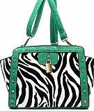 zebra studded cross body bag