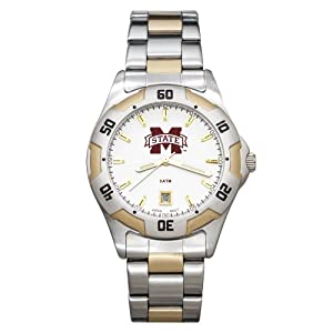 NCAA Mississippi State Bulldogs Mens All-Pro Two-Tone Watch by Logo Art