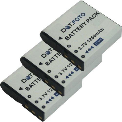 3x Dot.Foto Qualitätsakku für SilverCrest PAC-0040 - 3,7v / 1250mAh - Garantie 2 Jahre - 100% kompatibel