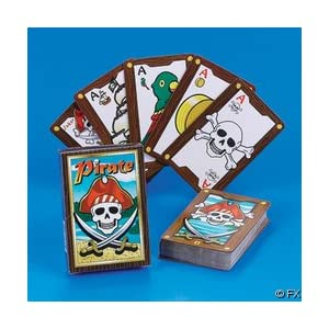 Click to buy Pirate Birthday Party Ideas: Pirate Playing Cards from Amazon!