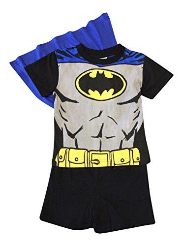 Sam pompiere, ragazzi 100% cotone pigiama corti 2 colori (Cinque, Batman Nero)