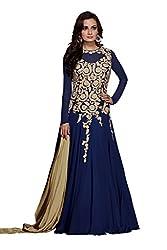 Monika Silk Mill Presents Blue Designer Dress Material