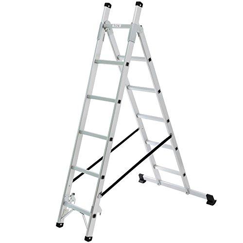 Songmics-Leiter-257m-Universalleiter-3-Wege-Haushaltsleiter-aus-Aluminium-GLT260