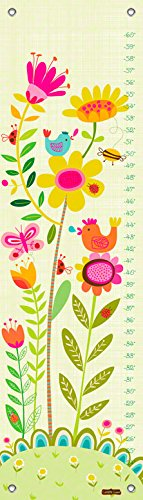 Oopsy Daisy Bloomin' Birdies by Carolyn Gavin Growth Charts, 12 by 42-Inch