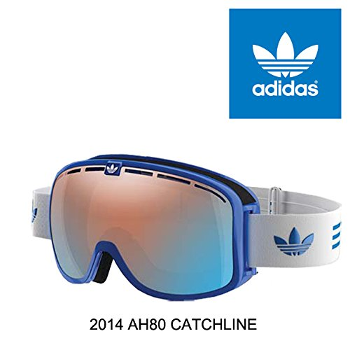 2014 ADIDAS アディダス GOGGLE AH80 CATCHLINE BLUE SHINY/LST BRIGHT BLUE MIRROR [並行輸入品]