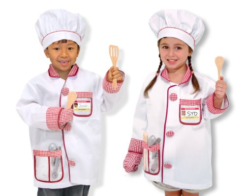 Melissa & Doug Chef Role Play Costume Dress -Up Set With Realistic Accessories