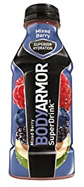 Body Armor Drink, Mixed Berries, 16 Ounce (Pack of 12)