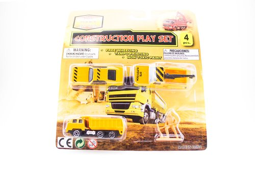Die Cast Metal Construction Play Set 4pcs - 1