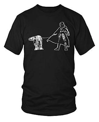 Darth Vader Walking a Pesky AT-AT on a Leash Funny Star Wars T-Shirt