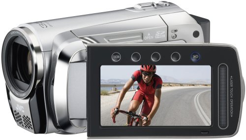 JVC GZ-MS120 SEU SD-Camcorder (SD/SDHC-Card, 35-fach opt. Zoom, 6,9 cm (2,7 Zoll) Display) diamant-silber